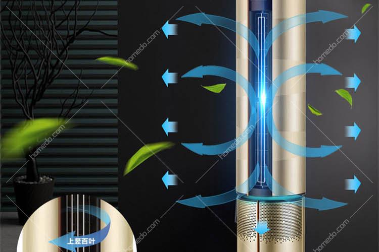 haier海尔 智能空调 2p 圆柱冷暖 变频 kfr-50lw 06baa21au1