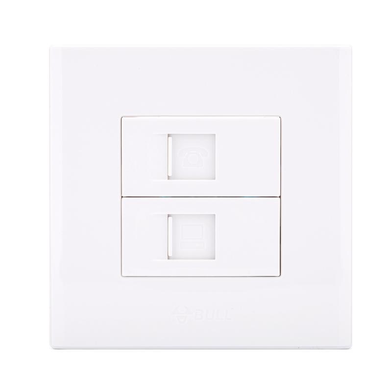 正品公牛墙壁插座面板86型电话 电脑网络端口插座g06t212a