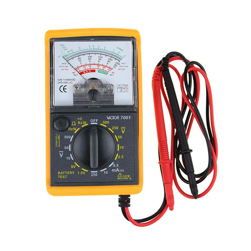胜利仪器 victor 指针表多用表vc7001指针万用表 机械万用表 测电阻