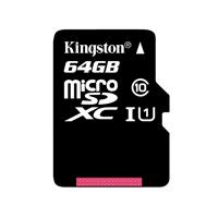 金士顿(Kingston)64GB 80MB/s TF(Micro SD)Class10 UHS-I高速存储卡 带包装