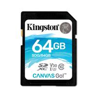 金士顿(Kingston)64GB SD U3 C10 V30 读速90MB/s写速 45MB/s